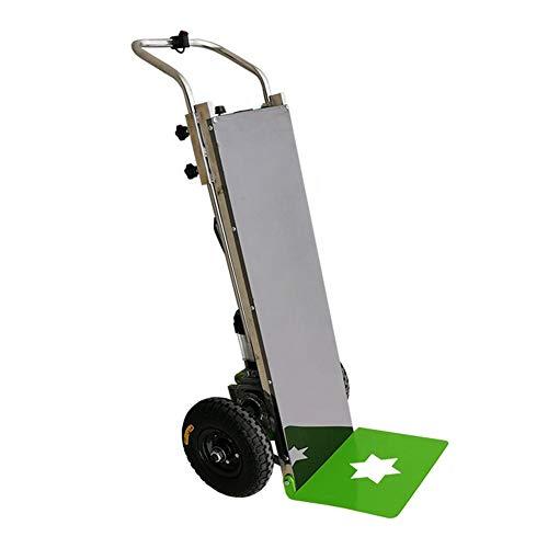 WSHA Carretilla de Mano para trepar escaleras eléctrica de Acero Inoxidable, Carretilla elevadora para escaleras eléctrica, Carretilla Plana, Capacidad de 551 Libras, para Entrega logística
