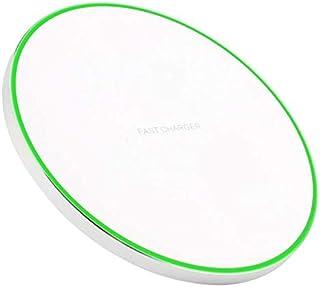 IMDEN Qi ワイヤレス 充電器 qc 3.0 10W 発熱対策 急速 無線 充電 超薄型 軽量 呼吸ランプ付き 多重保護 車載 ワイヤレスチャージャー スマホ充電器 LEDカラ フルなライト付き置くだけ充電 microUSB接続 iPhone 8/iPhone 8Plus/iPhone X/Galaxy S8/S8 plus/S7/S7 Edge/Nexus/LG G6/Xperia他のQi対応 の機種 対応 日本語説明書付き