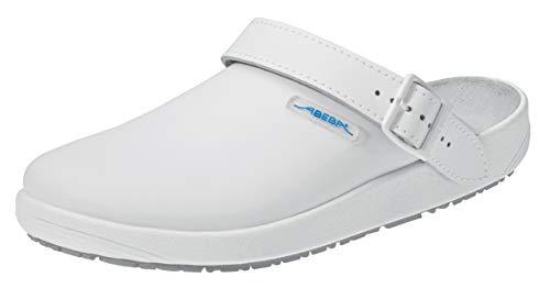 Abeba Clog 9200 - rubber Glattleder weiß, zertifiziert, 43
