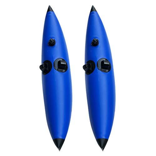 Injoyo 2 Unids Estabilizadores Inflables PVC Durable con Parches de Reparación para Kayak