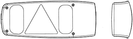 R/ückleuchte Schlussleuchte rechts P21W PY21W P21//5W ohne Lampentr/äger f/ür Model Duster