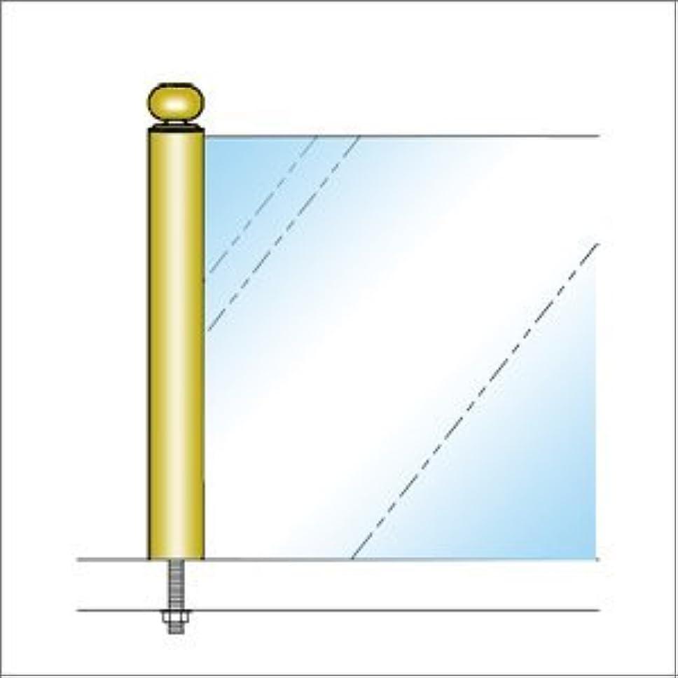 記念日焼け笑いe-kanamono ガラススクリーンポール(ブースバー) Sタイプ 一方 20mm x L100mm ギボシ頭 ボルト固定 ゴールド