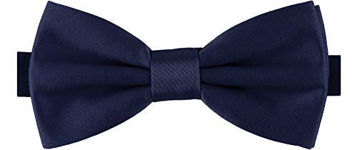 Ladeheid Nœud Papillon Accessoire Vêtement Homme - M (12cm x 6cm, Bleu Foncé2)