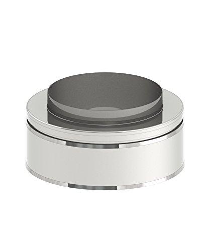 Mündungsabschluß für doppelwandige Schornsteine DW; Innen/Außen je 0,5 mm Wandstärke; Ø 150mm Innendurchmesser, Edelstahl