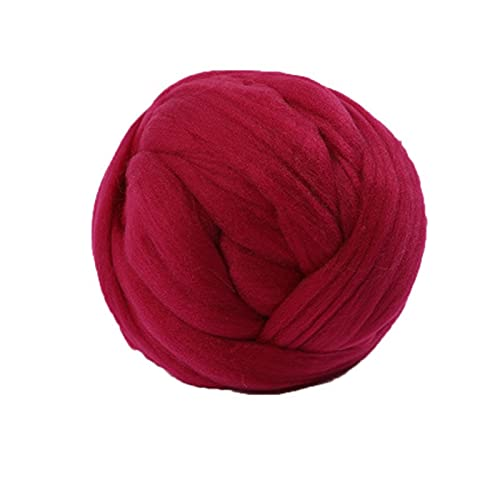 50g puszyste miękkie bluzki barwione włókno MAJSTERKOWANIE Przędzenia do szycia igły (Color : Red)
