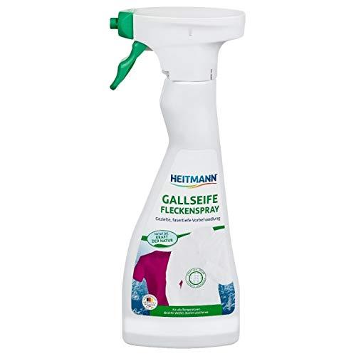 HEITMANN spray au savon de fiel : Détachant pour linge blanc, coloré et délicat, enlève graisse, huile, sang (250ml)