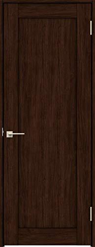 ラシッサS 標準ドア ASTH-LAG 錠付き 0620 W:734mm × H:2,023mm 吊元:右吊元 本体色/枠色:クリエダーク(DD) 枠種類:ノンケーシング115(壁厚:76-100) 沓摺:なし 把手:サークルB 鍵種類:丸型表示錠 LIX