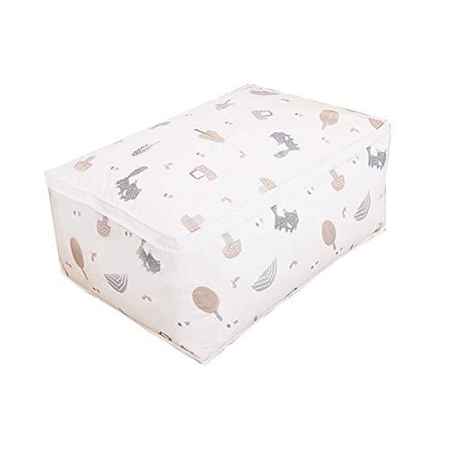 CYSHAKE Bolsa de Almacenamiento de Manta Plegable Ropa de Vestuario Edredón Organizador Caja Closet Sweater Bouch Home Portable Equipaje (Size : Medium)