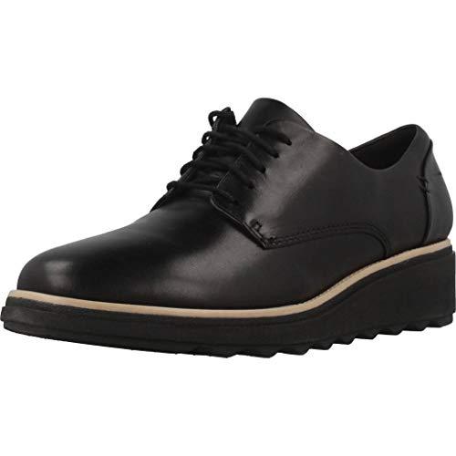 Clarks Damen Slipper, Schwarz (Black Leather), 40 EU