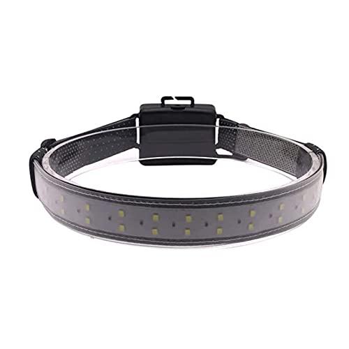 Mxhuc Linterna frontal LED de 220 ° de haz ancho, superbrillante, funciona con pilas, diseño ligero para camping, caza, correr, senderismo, uso industrial