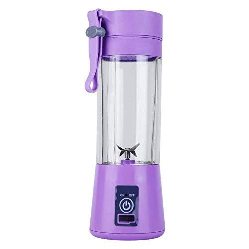 Great Price! JINHH 6 Blades Juicer, 380Ml USB Rechargeable Blender Mixer Bottle Cup Juice Citrus Lem...