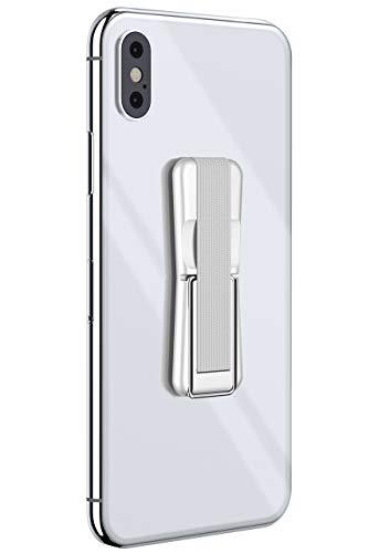 ONEFLOW® ClipGrip - Handy Fingerhalterung mit Ständer für alle Vernee Handys | Handyständer Ring Finger Halter Handyring Selbstklebend, Weiß