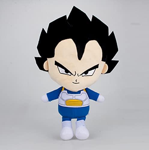 Anime Dragon Ball Classic Character Vegeta Peluche de Juguete 30Cm, Figura de acción Muñeco de Peluche Suave Regalo del día de los niños de Navidad