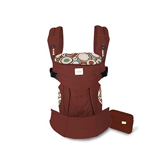 SONARIN Mochila portabebé Convertible Premium,Ergonómica,capucha de dormir,para recién nacidos y bebés(3-48 meses),carga máxima 20 kg,Soporte para la Cabeza,Marsupio portabebé(Rojo Oscuro)