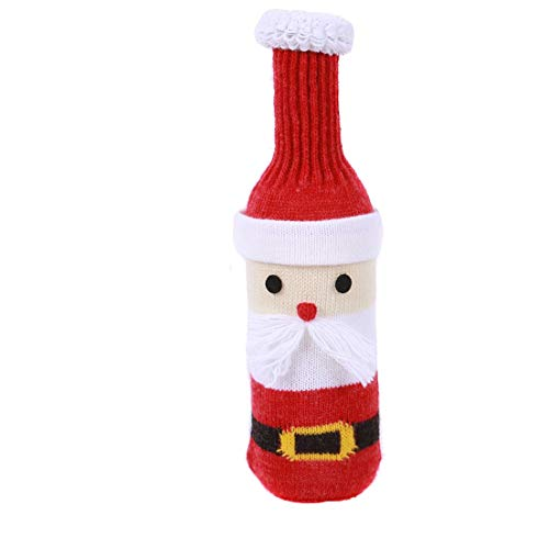 Knit Santa Wine Bottle Cover