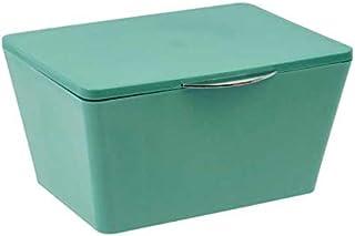 WENKO DIE BESSERE IDEE Boite Rangement Salle de Bain avec Couvercle Brasil Vert, 19x10x15,5 cm