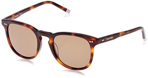 Calvin Klein CK4321S Round Sunglasses, Tortoise/Green, 51 mm