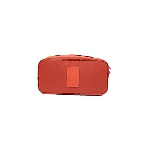 Emballage Organisateur Bra Sous-vêtements sac de rangement Lingerie Voyage Pouch Sac à main cosmétiques Organisateur Toiletry Accueil Coffret de rangement (orange)