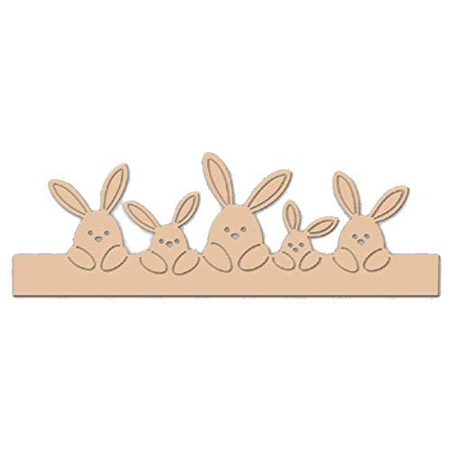 Wide.ling Happy Easter Brief Stanzformen und Osterhase Kaninchen Metall Prägung Schablone Vorlage für DIY Scrapbook Album Papier Karte (D)