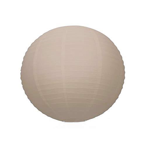 Lanterne Japonaise Taupe, Lampion Boule Papier, 35 cm, à Suspendre
