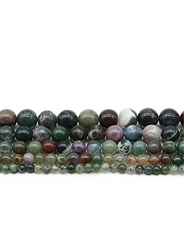 Cuentas sueltas redondas lisas de piedra natural de 4/6/8/10/12 mm para hacer joyas sueltas cuentas hechas a mano de color verde 3 mm aprox. 120 cuentas
