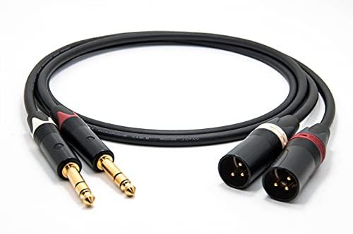 Mogami 2534 Quad Cable pares (L,R) Estéreo balanceado   Neutrik 6,3mm TRS...