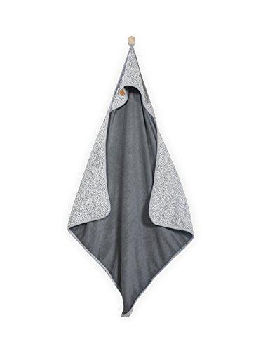 Jollein 534–836–65061 Serviette de bain de bébé, délavé Knit, 75 x 75 cm, gris