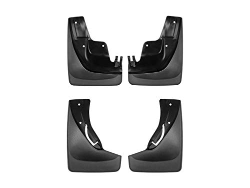 WeatherTech Custom MudFlaps for Jeep Grand Cherokee - Front & Rear Set Black (110058-120058)