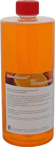 Orangenreiniger Konzentrat mit nat. Orangenöl der hochwirksame und kraftvolle Allzweckreiniger 1 Liter von Mastercleaner biologisch abbaubar