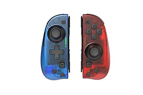 Motion Controllers Pair with a USB Type-C Charging Cable & Joy-Con Alternative Compatible with Nintendo Switch - Clear