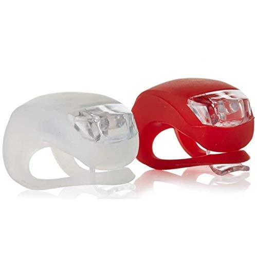 Patabit Luci per Bicicletta LED Anteriore E Posteriore | Luci Bici MTB | Accessori Luce per Biciclette A Batteria in Silicone Impermeabile Ad Elevata Resistenza. LED Alta Prestazione (Luci)