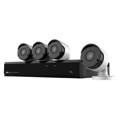 Nivian NV-KIT81-4CAM-8M bewakingscamera set met 4x 8MP 4K UltraHD bullet camera's en 8 kanaals PoE UltraHD 4K Netwerk Video Recorder