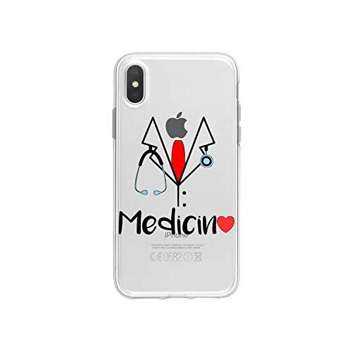 Funda de silicona suave para iPhone 8 7 Plus Cute Doctor Nurse Medicine Health Case para iPhone XR 6 6S Plus SE XS MAX-A203811-para iPhone 5 5S SE