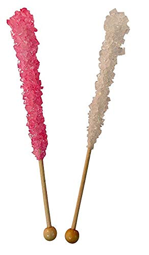 Its a Girl Baby Shower Rock Candy Sticks 12 Count LIGHT Pink and White For Gender Reveal Parties OR Baby Showers-BUBBLE WRAPPED FOR SAFETY