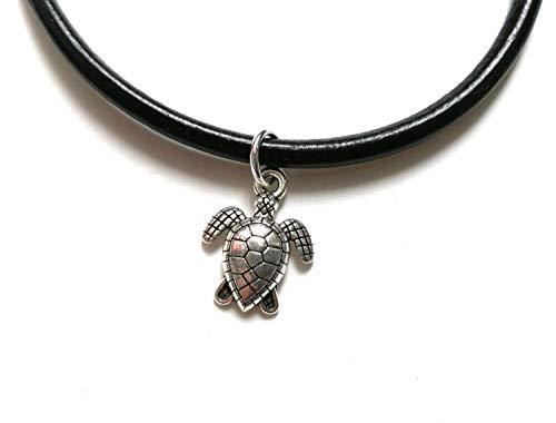 Miniblings Schildkröte Lederarmband Armband Wasserschildkröte Meeresschildkröte - Modeschmuck Handmade - Damen Mädchen Bettelarmband