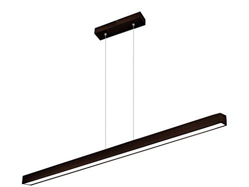 LED Hängeleuchte HausLeuchten LED120KB-WENGE aus Massivholz 120cm / 1998lm / 6 Varianten, Deckenlampe,Deckenleuchte, Pendelleuchte, Leuchte, Lampe (WENGE (dunkel braun))