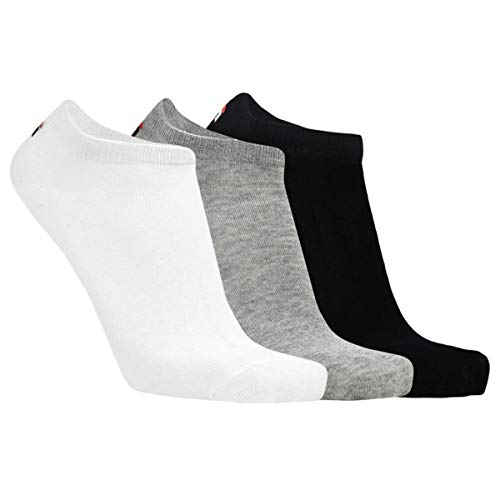 Fila Sneakersocken F9100 3er-Pack Farbe Weiß-Schwarz-Grau, Größe 35-38