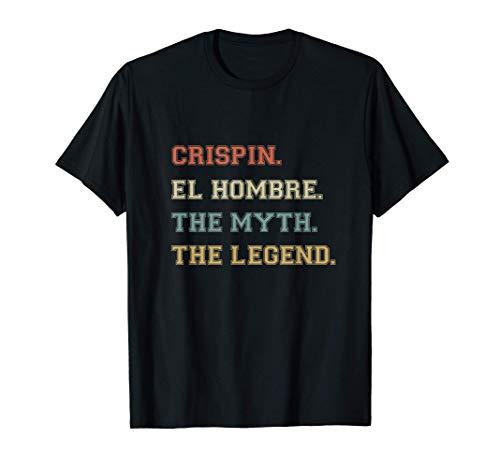 Crispin el Hombre Myth Legend Nombre Divertido Personalizado Camiseta