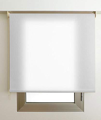 Estor Luminoso Elite (Desde 40 hasta 300cm de Ancho) Permite Paso de Mucha luz, no Permite Ver el Exterior/Interior. Color Blanco. Medida 140cm x 160cm para Ventanas y Puertas