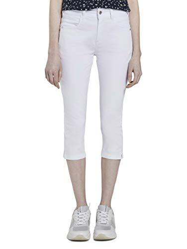 Tom Tailor Kate Capri Pantaloni, 20000/White, 26 Donna