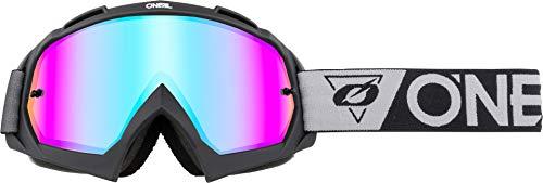 O'Neal | Gafas de Motocross | MX MTB Downhill Freeride | Lente moldeada de alta precisión en 3D con resistencia a los impactos y protección 100% UVA/B/C | Gafas B-10 | Unisex | Espejo Negro grisáceo