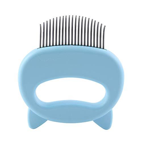 YITON Pet Comb Blue Pet Massage Brush Cat Ear Shell Comb Pet Cat Hair Comb L Shaped Hair Cleaning Comb 2Pcs