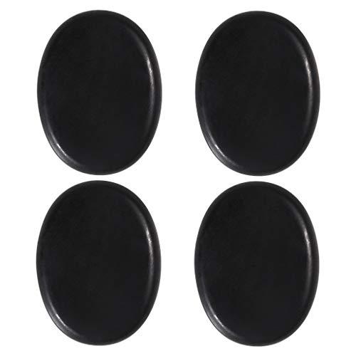 Bonarty Juego de 4 Piezas de Piedras de Masaje Grandes Profesionales Piedras de Rocas Calientes de Basalto Que Se Relajan - Los 6x8x1.8cm