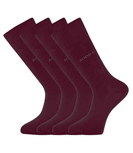 Joop! Herren Socken 2 Paar, Basic Soft Cotton Sock 2-Pack, Einfarbig - Farbwahl: Farbe: Weinrot (polar lights) | Größe: 39-42 (6-8 UK)