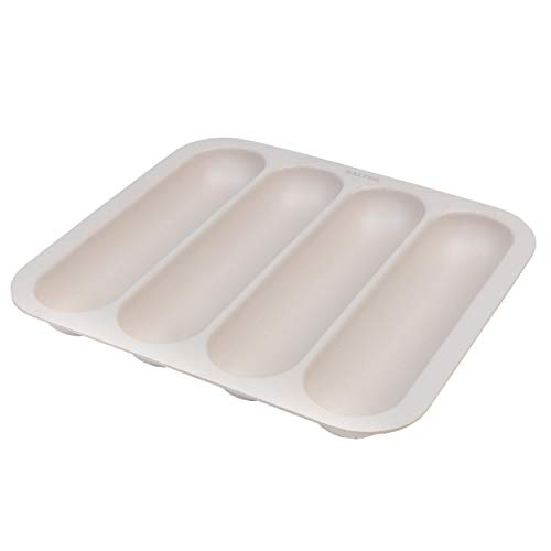 Organizador de cajones de cocina ligero / bandeja de división de cubiertos Salter Earth BW07817, sin BPA, cuatro compartimentos, natural, Porta cubiertos