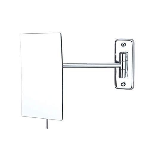 LY88 Kosmetikspiegel Wandspiegel 3-fache Vergrößerung Rasierspiegel für Badezimmer Rechteckiger Waschtisch Chrom poliert Verstellbare Vergrößerung Kosmetikspiegel Wandrechteck