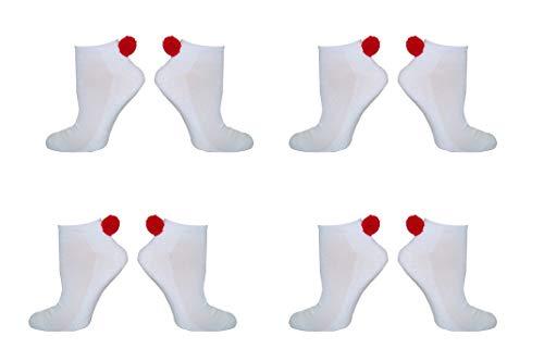NEW! Pom Pom Lowcut Socks Women - Lowcut Pom-Pom Performance Socks - Fits Shoe Size: 4-10 (Ladies)