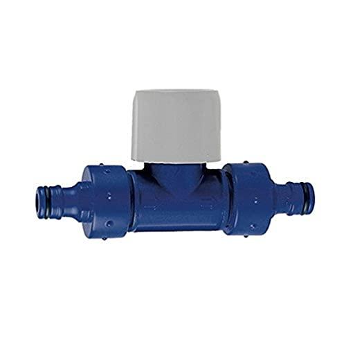 TATAY 0001801 Vanne à Passage Direct Plastique Bleu Dimensions 13 x 7,8 cm