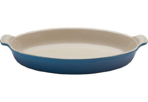 Le Creuset PG0400-3659 Heritage Stoneware Oval Au Gratin Dish, 3.1-Quart, Marseille