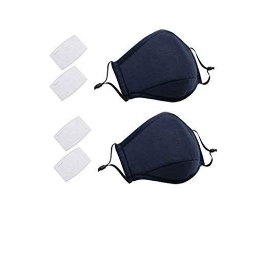 PM 2.5 Luftverschmutzung Masken mit 4 Luftfilter Baumwolle Blatt Waschbar Wiederverwendbar Anti-Staub-Rauch-Gesichtsmaske mit verstellbaren Trägern-NV